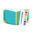 back to school education open book and palette vector image