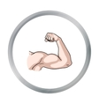 Biceps icon in cartoon style isolated on white vector image vector image