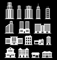 Building set - white vector image vector image