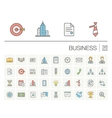 Business and management color icons vector image