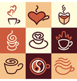 caffee logo icons vector image vector image