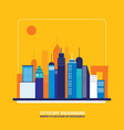 cityscape background city building silhouettes vector image vector image