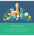 Cleaning concept poster vector image vector image