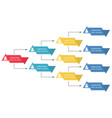 colorful business structure concept vector image