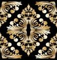 damask vintage gold seamless pattern baroque vector image