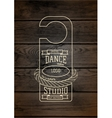 Dance studio badges logos and labels for any use vector image vector image