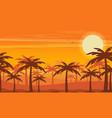 desert view egypt sunset flat vector image vector image