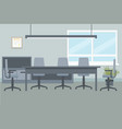 design of office environment for executive meeting vector image vector image