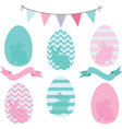 Easter Eggs Collections vector image vector image