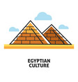 egyptian culture promotional poster with famous vector image