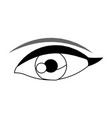 female eye vision optic cartoon vector image
