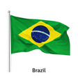 flag federative republic brazil vector image vector image
