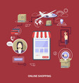 flat design shopping concept pone store vector image