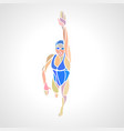 freestyle woman swimmer silhouette sport swimming vector image vector image
