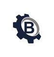 gear logo letter b vector image vector image