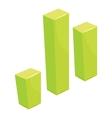 Green grraph icon cartoon style vector image vector image