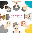 group happy multi ethnic men vector image vector image