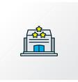 hotel icon colored line symbol premium quality vector image vector image