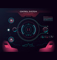 interface ui design graphic hud vector image