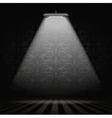 Interior with spotlight vector image vector image