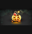 jack-o-lantern pumpkin head vector image vector image