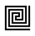 labirinth greek symbol greek key typical vector image
