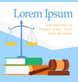 law faculty educational program web banner vector image vector image