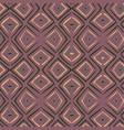 linocut rhombus brown seamless pattern vector image