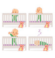 little baby in crib vector image vector image