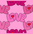 love pink seamless pattern vector image vector image