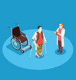 medical rehabilitation isometric composition vector image vector image