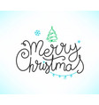merry christmas hand drawn lettering inscription vector image vector image