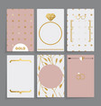 modern wedding card vector image vector image