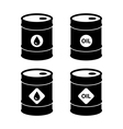 oil barrel icons vector image