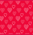 pattern winth doodle hearts vector image