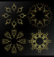 patterns of gold on a black background vector image