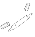 permanent markers out line vector image vector image