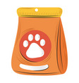 pets package with food for dog image flat style vector image vector image