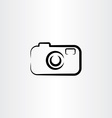 photo camera icon design black symbol vector image