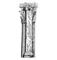 pilaster wall vintage engraving vector image vector image