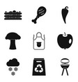 produce icons set simple style vector image vector image