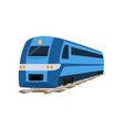 railway locomotive train or passenger car vector image