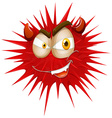 Red thorny with devil face vector image vector image