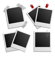 Retro photo frames on white vector image