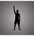 Rock silhouette vector image