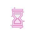 sand clock icon design vector image vector image
