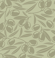 Seamless background with olives vector image