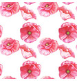 seamless pattern of flowers of tulips vector image vector image
