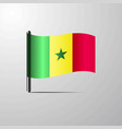 senegal waving shiny flag design vector image vector image