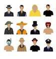 Set of avatar icons vector image